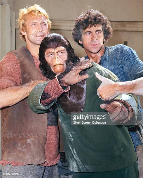 Ron Harper Roddy McDowall and James Naughton in a publicity still issued for the US television series 'Planet of the Apes' USA circa 1974 The...