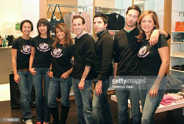 Ron Herman Employees during Swarovski 7 For All Mankind Event at Ron Herman Store in Costa Mesa California United States