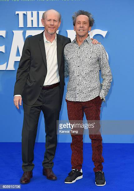 Ron Howard and Brian Grazer arrive for the World premiere of 'The Beatles Eight Days A Week The Touring Years' at Odeon Leicester Square on September...