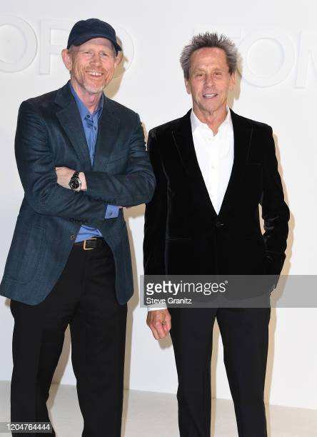 Ron Howard and Brian Grazer arrives at the Tom Ford AW20 Show at Milk Studios on February 07, 2020 in Hollywood, California.