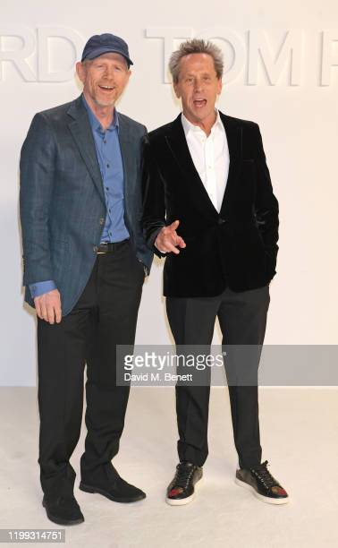 Ron Howard and Brian Grazer attend the Tom Ford AW20 show at Milk Studios on February 7, 2020 in Hollywood, California.
