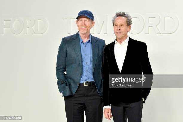 Ron Howard and Brian Grazer attend the Tom Ford AW20 Show at Milk Studios on February 07, 2020 in Hollywood, California.