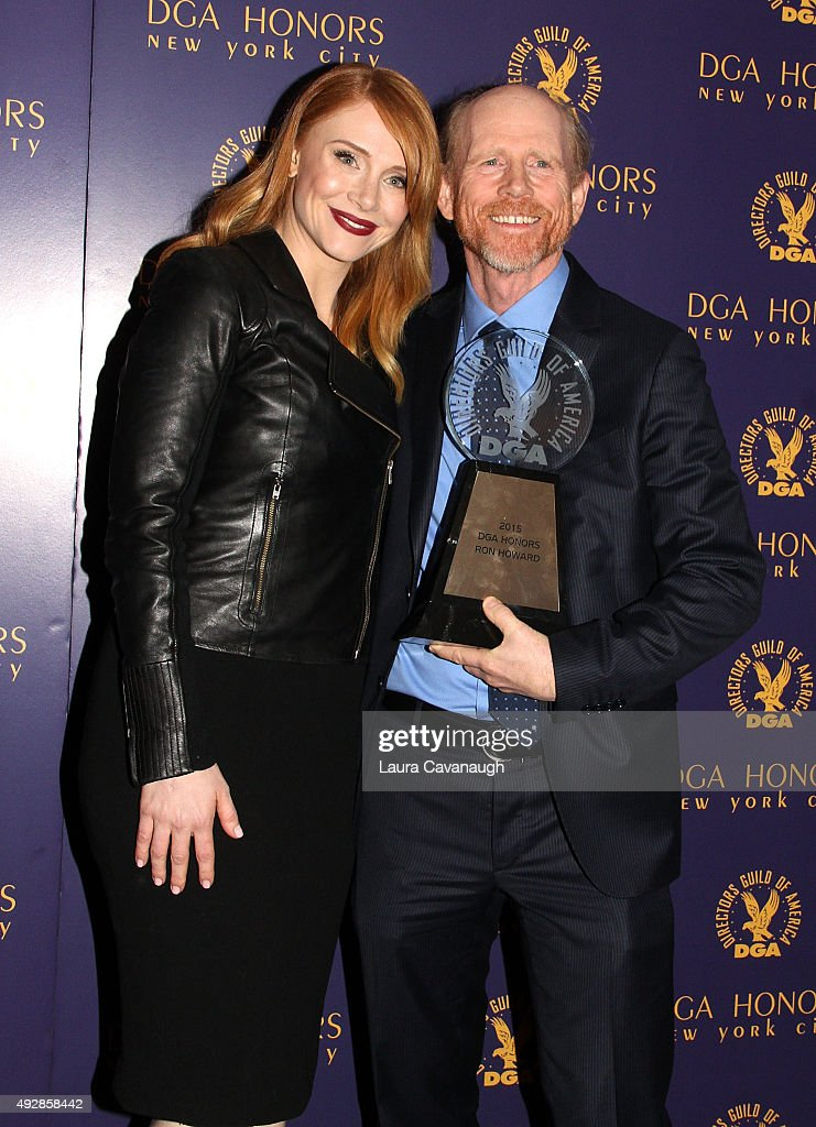 Ron Howard and Bryce Dallas Howard attend the DGA Honors Gala 2015 on October 15, 2015 in New York City.