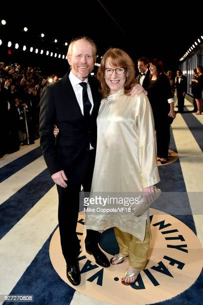 Ron Howard and Cheryl Howard attend the 2018 Vanity Fair Oscar Party hosted by Radhika Jones at Wallis Annenberg Center for the Performing Arts on...