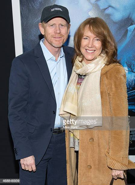 Ron Howard and Cheryl Howard attend the Winter's Tale world premiere at Ziegfeld Theater on February 11 2014 in New York City