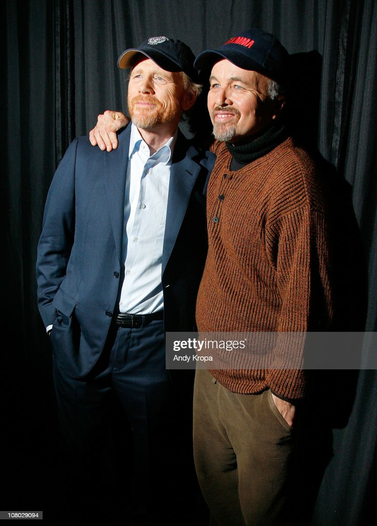 Ron Howard and Clint Howard visit the Apple Store Soho on January 13, 2011 in New York City.