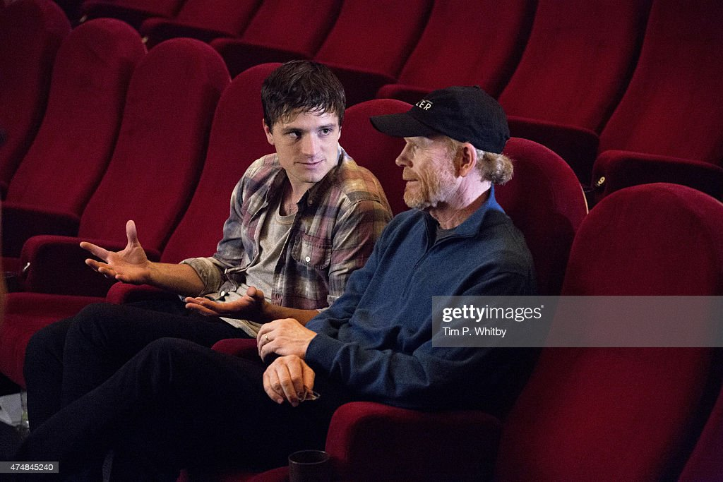 Ron Howard and Josh Hutcherson in Budapest screening finalists for Canon's Project Imagination: The Trailer on May 25, 2015 in Budapest, Hungary.