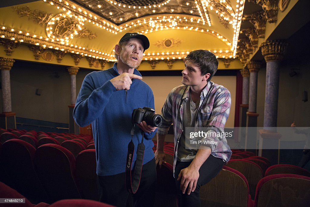 Ron Howard and Josh Hutcherson in Budapest working on Canon's Project Imagination: The Trailer on May 25, 2015 in Budapest, Hungary.