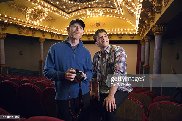 Ron Howard and Josh Hutcherson in Budapest working on Canon's Project Imagination The Trailer on May 25 2015 in Budapest Hungary