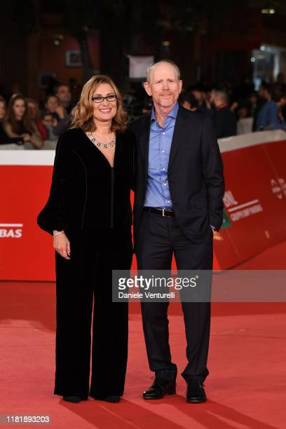 "Ron Howard and Nicoletta Mantovani attend the ""Pavarotti"" red carpet during the 14th Rome Film Festival on October 18, 2019 in Rome, Italy."