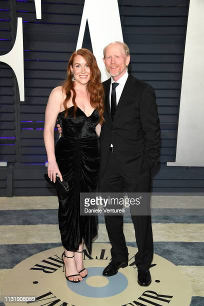 Ron Howard and Paige Howard attend 2019 Vanity Fair Oscar Party Hosted By Radhika Jones at Wallis Annenberg Center for the Performing Arts on...