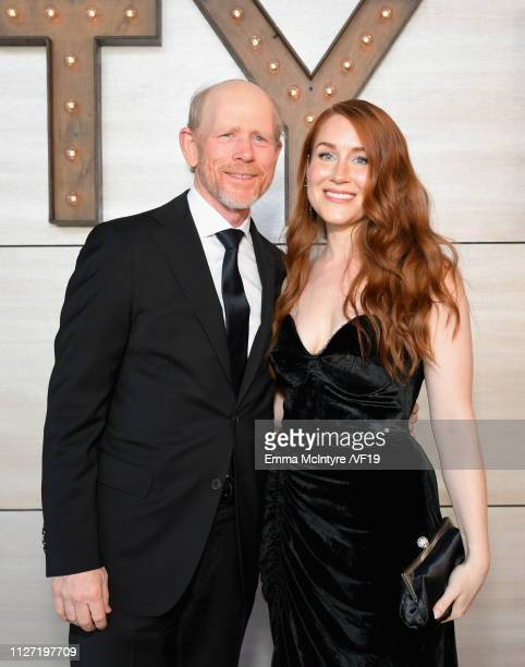 Ron Howard and Paige Howard attend the 2019 Vanity Fair Oscar Party hosted by Radhika Jones at Wallis Annenberg Center for the Performing Arts on...