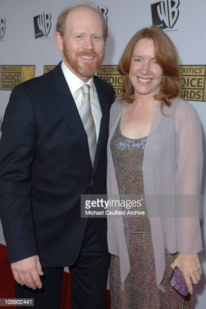 Ron Howard and wife Cheryl Howard during 11th Annual Critics' Choice Awards Red Carpet at Santa Monica Civic Auditorium in Santa Monica CA United...