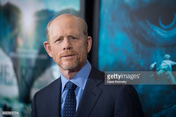 Ron Howard arrives at the 'In The Heart Of The Sea' New York Premiere at Frederick P Rose Hall Jazz at Lincoln Center on December 7 2015 in New York...