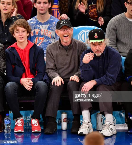 Ron Howard attends Atlanta Hawks v New York Knicks game at Madison Square Garden on December 21 2018 in New York City