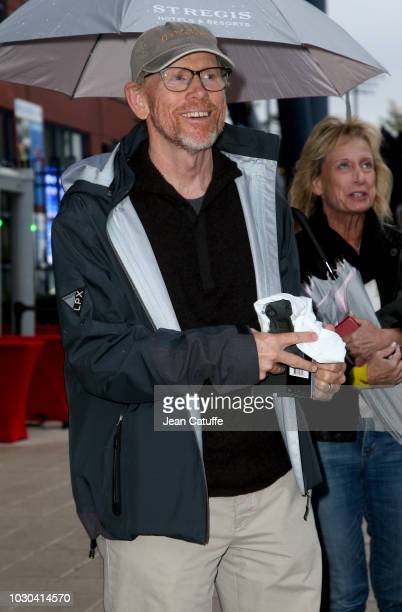 Ron Howard attends the men's final on day 14 of the 2018 tennis US Open on Arthur Ashe stadium at the USTA Billie Jean King National Tennis Center on...