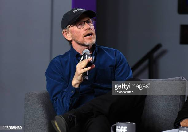 """Ron Howard attends the """"Once Were Brothers: Robbie Robertson and the Band"""" press conference during the 2019 Toronto International Film Festival at..."""