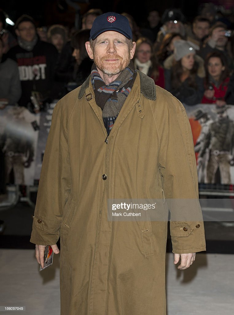 Ron Howard attends the UK premiere of 'Django Unchained' at Empire Leicester Square on January 10, 2013 in London, England.