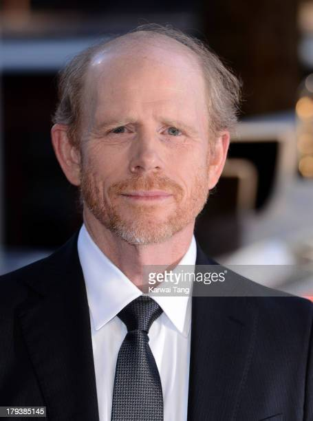 Ron Howard attends the World Premiere of 'Rush' at the Odeon Leicester Square on September 2 2013 in London England