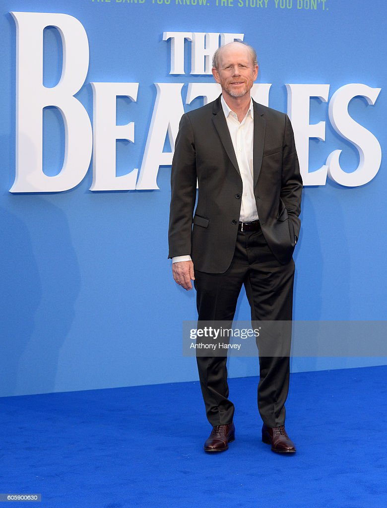Ron Howard attends the World premiere of 'The Beatles: Eight Days A Week - The Touring Years' at Odeon Leicester Square on September 15, 2016 in London, England.