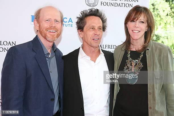 Ron Howard Brian Grazer and Jane Rosenthal attend Tribeca Talks After the Movie 'A Beautiful Mind' during the 10th annual Tribeca Film Festival at...