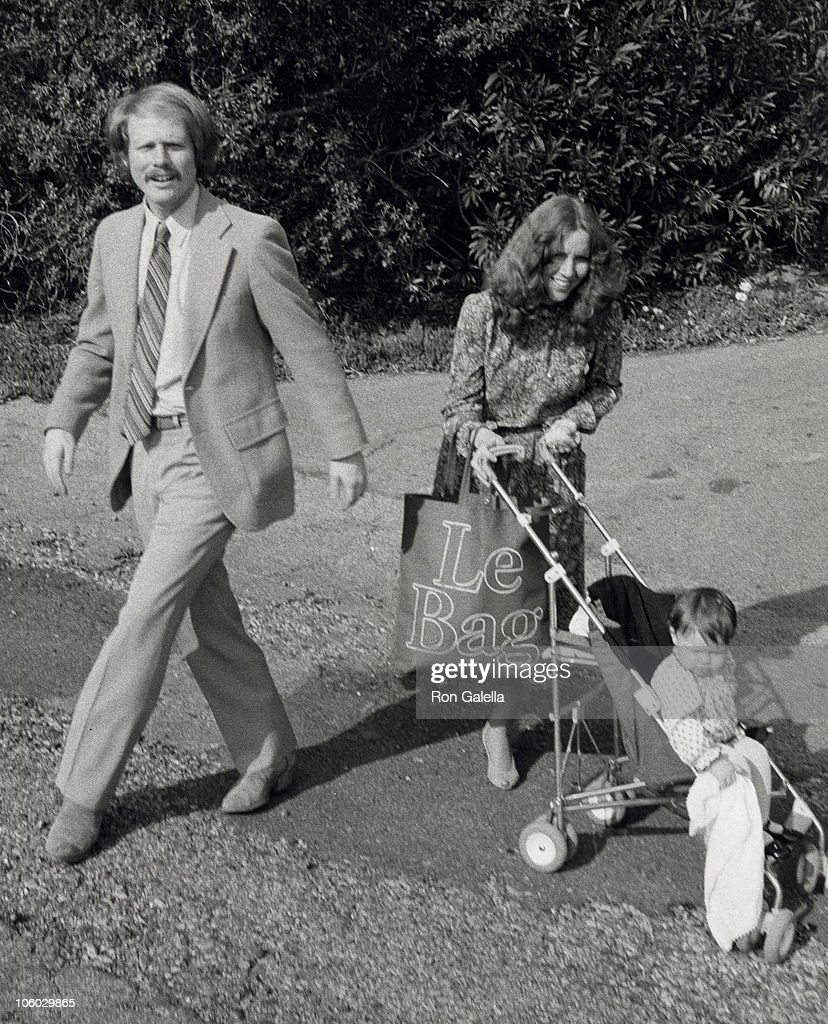 Ron Howard, Cheryl Howard and Bryce Dallas Howard during Donny Most and Morgan Hart Wedding Reception - February 21, 1982 at Donny Most's Malibu Home in Malibu, California, United States.