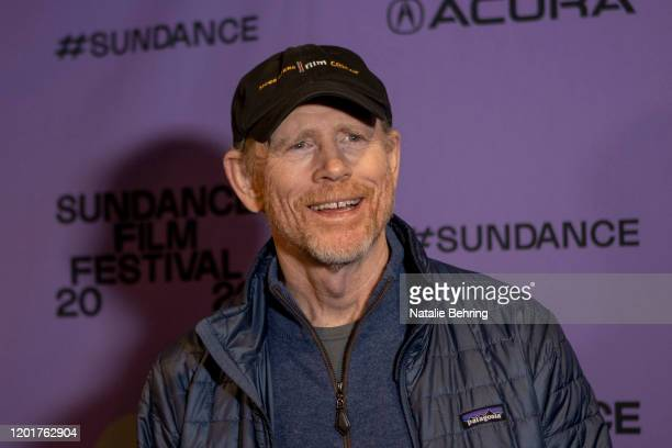 """Ron Howard, director of the documentary """"Rebuilding Paradise"""" at the film's Sundance premiere at Prospector Square Theatre on January 24, 2020 in..."""
