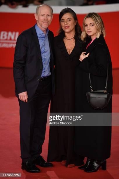 Ron Howard Giuliana Pavarotti and Caterina Lo Sasso attend the 'Pavarotti' red carpet