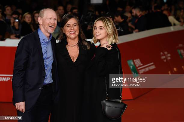 Ron Howard, Giuliana Pavarotti, Caterina Lo Sasso at Rome Film Fest 2019. Rome , October 18th, 2019