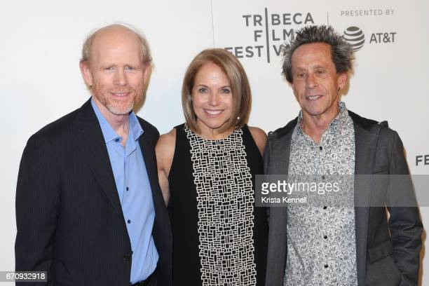 """Ron Howard, Katie Couric and Brian Grazer attend the """"Genius"""" Premiere during the 2017 Tribeca Film Festival at BMCC Tribeca PAC on April 20, 2017 in..."""