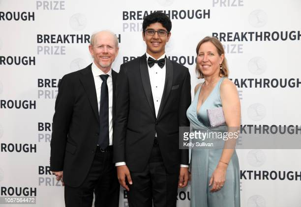 Ron Howard, Samay Godika, and Susan Wojcicki attend the 2019 Breakthrough Prize at NASA Ames Research Center on November 4, 2018 in Mountain View,...