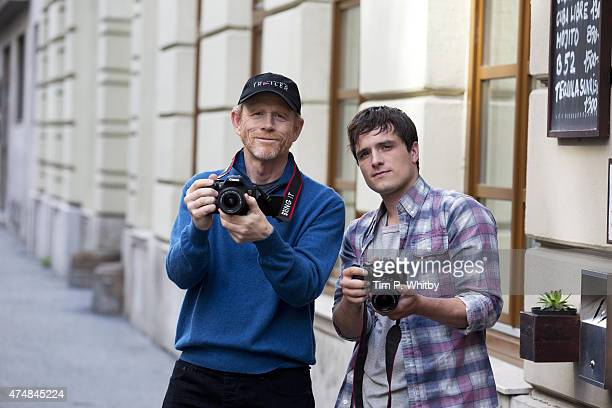 Ron Howard with Josh Hutcherson capturing his trip to Budapest while in town for Canon's Project Imagination The Trailer on May 25 2015 in Budapest...