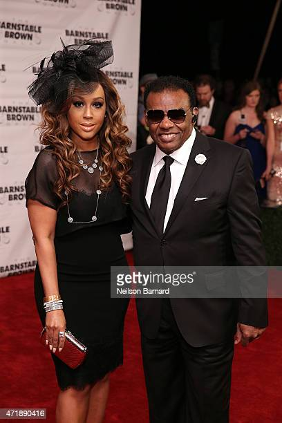 Ron Isley and Kandy Johnson Isley attend the 2015 Barnstable Brown Kentucky Derby Eve Gala at the Barnstable Brown House on May 1 2015 in Louisville...
