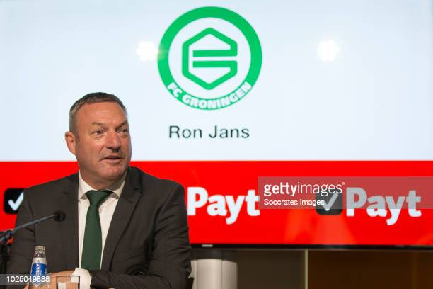 Ron Jans of FC Groningen during the Contract Signing Jannik Pohl of FC Groningen at the NoordLease Stadium on August 29 2018 in Groningen Netherlands
