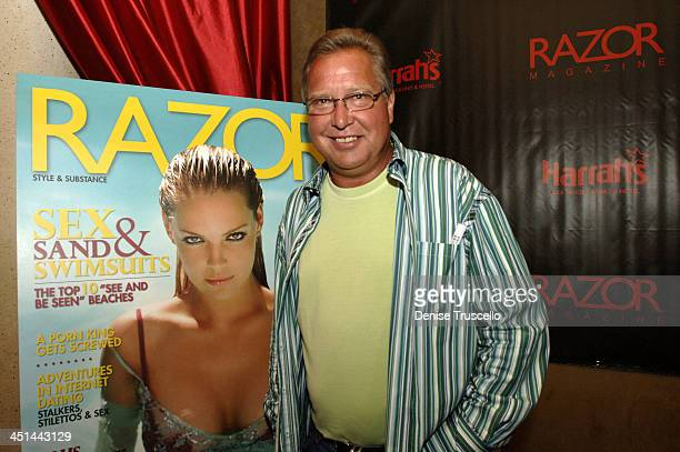 Ron Jaworski during Razor Magazine Hosts Party for the American Century Championship Players at Altitude Nightclub at Harrahs Hotel and Casino in...