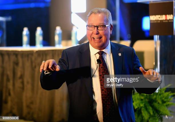 Ron Jaworski speaks duirng day two of the 33rd annual Nightclub & Bar Convention and Trade Show on March 27, 2018 in Las Vegas, Nevada.