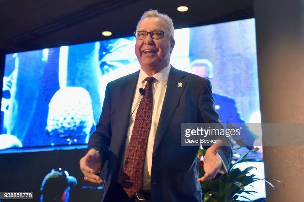 Ron Jaworski speaks during day two of the 33rd annual Nightclub & Bar Convention and Trade Show on March 27, 2018 in Las Vegas, Nevada.