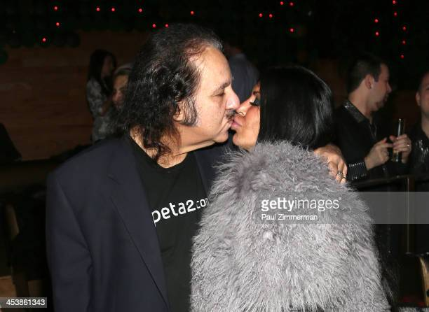 Ron Jeremy and Angela Big Ang Raiola attend Mob Wives Season 4 premiere at Greenhouse on December 5 2013 in New York City