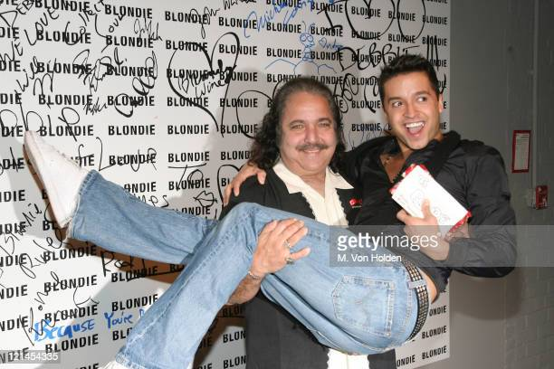 Ron Jeremy and Jai Rodriguez during Marc Jacobs Celebrates Debbie Harry's Rock and Roll Hall of Fame Induction at Stephen Weiss Studio in New York...