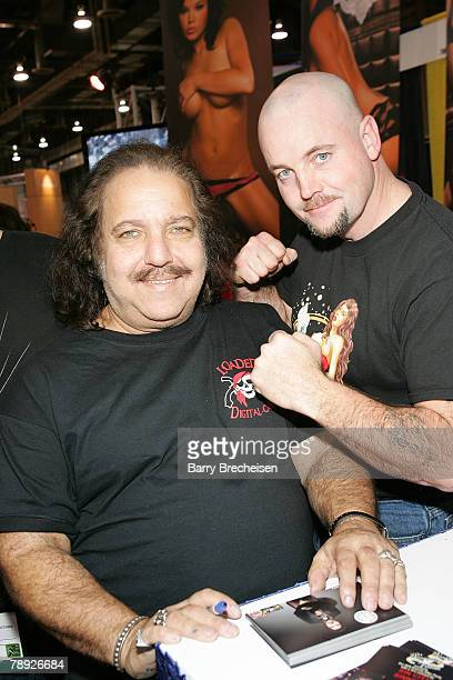 Ron Jeremy and John Wayne Bobbitt at the Paradise Visuals booth in the Sands Expo Center at the 2008 AVN Adult Entertainment Expo on January 12 2008...