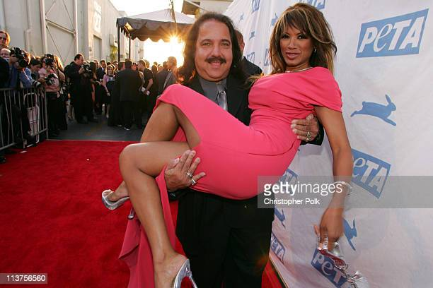 Ron Jeremy and Traci Bingham during 25th Anniversary Gala for PETA and Humanitarian Awards Red Carpet at Paramount Pictures in Hollywood California...