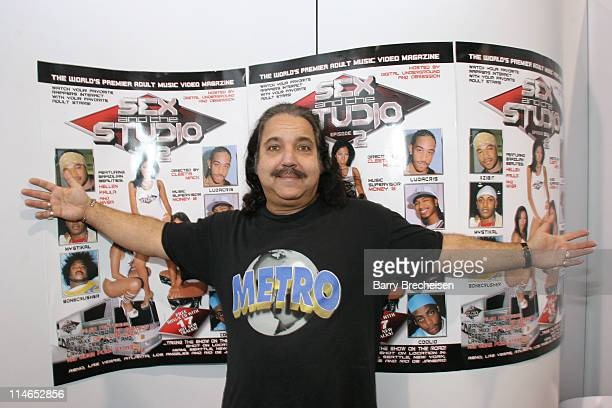 Ron Jeremy at the Metro booth during 2005 AVN Adult Entertainment Expo at Sand Expo Center in Las Vegas Nevada United States