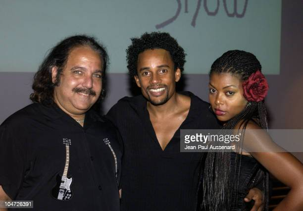 Ron Jeremy Hill Harper Taraji Henson during VH1's Pilot The Hill Harper Show Screening Party at BB Kings Blues Club in Universal City California...