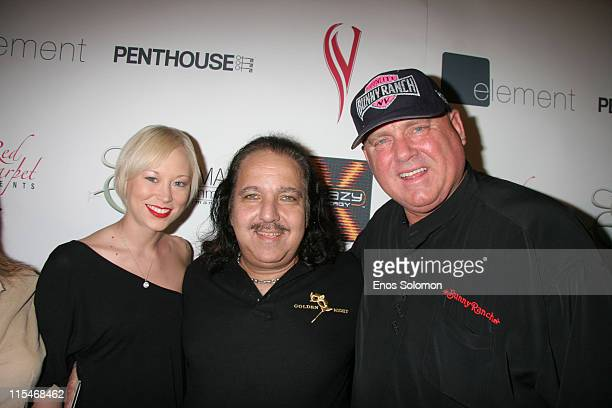 Ron Jeremy with Brooke Taylor and Dennis Hof of the Moonlite BunnyRanch