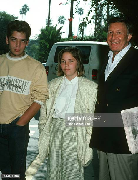 Ron Kass Daughter Katyana Kass and Son during Pierre Cardin Fashion Show and Luncheon for the Princess Grace Foundation at Beverly Hills Hotel in...