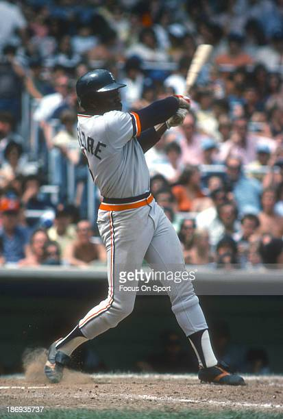 Ron LeFlore of the Detroit Tigers bats against the New York Yankees during an Major League Baseball game circa 1978 at Yankee Stadium in the Bronx...