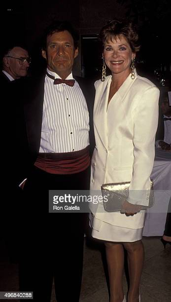 Ron Leibman and Jessica Walter attend 25th Annual Center Theater Group Anniversary Party on August 27 1992 at the Beverly Hilton Hotel in Beverly...