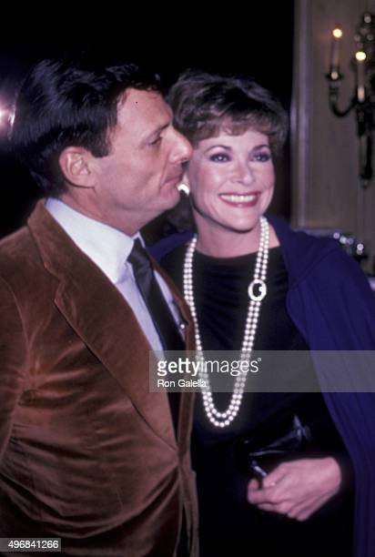 Ron Leibman and Jessica Walter attend Bare Essence Press Party on February 3 1983 at Chasen's Restaurant in Beverly Hills California