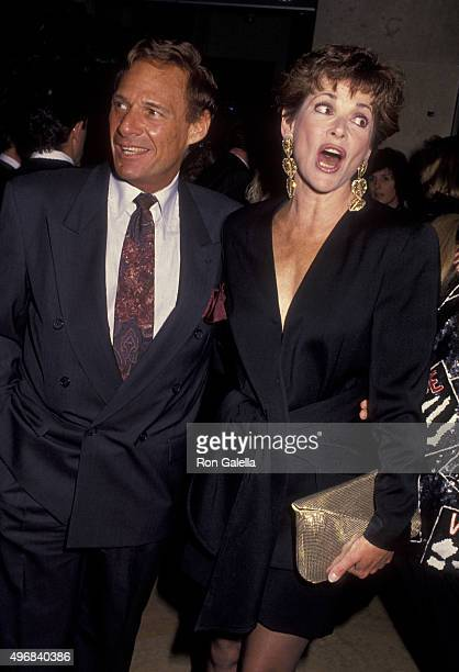 Ron Leibman and Jessica Walter attend Sixth Annual Genesis Awards on March 1 1992 at the Beverly Hilton Hotel in Beverly Hills California