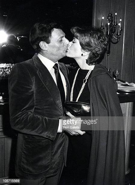 Ron Leibman and Jessica Walter during Bare Essence Press Party February 3 1983 at Chasen's Restaurant in Beverly Hills California United States